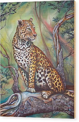 Leopard Wood Print by Nicole O'Connor