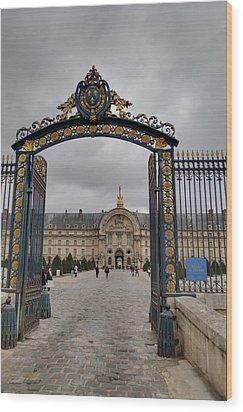 Les Invalides - Paris France - 01138 Wood Print by DC Photographer