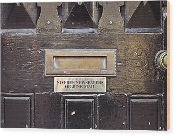 Letterbox Wood Print by Tom Gowanlock