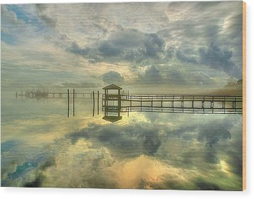 Wood Print featuring the photograph Levitating Dock by Ed Roberts