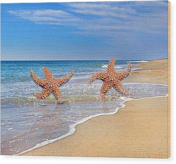 Life's A Beach Wood Print by Betsy Knapp