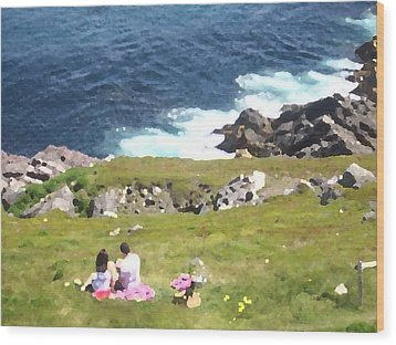 Wood Print featuring the photograph Lighthouse Picnic by Zinvolle Art