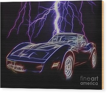 Lightning Fast Wood Print by JohnD Smith