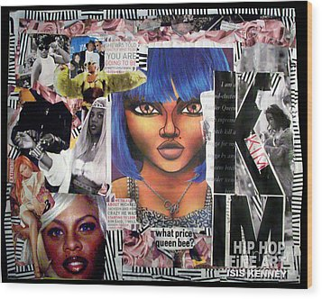Lil Kim The Making Of A Queen Bee Wood Print by Isis Kenney