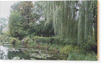 Lilly Pond  Wood Print by Kristine Bogdanovich