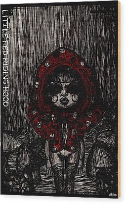 Little Red Riding Hood Wood Print