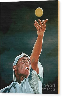 Lleyton Hewitt Wood Print by Paul Meijering