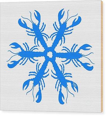 Lobster Snowflake 198 20080719 Wood Print by Julie Knapp