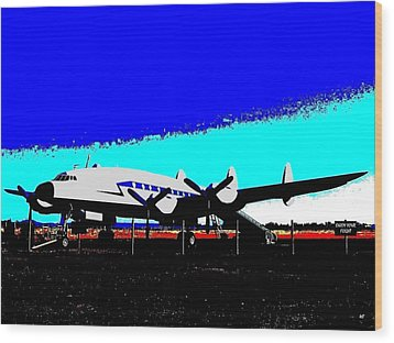 Lockheed Constellation Wood Print by Will Borden