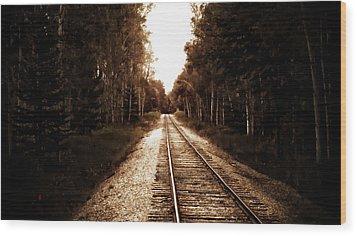 Lonely Railway Wood Print