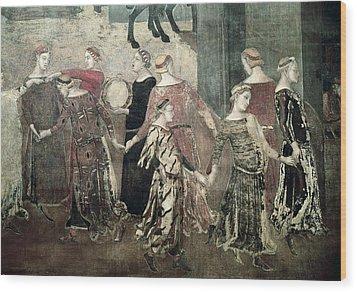 Lorenzetti, Ambrogio 1285-1348 Wood Print by Everett