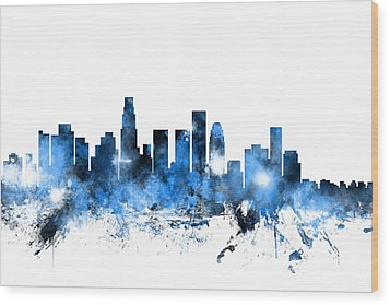 Los Angeles California Skyline Wood Print