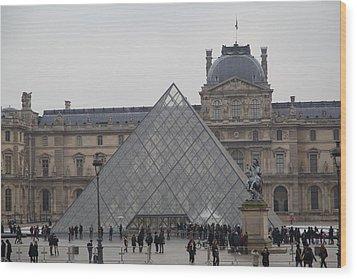 Louvre - Paris France - 011313 Wood Print by DC Photographer