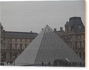 Louvre - Paris France - 01133 Wood Print by DC Photographer