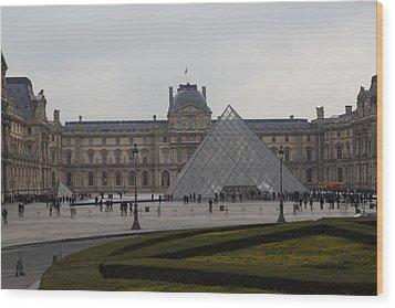 Louvre - Paris France - 01137 Wood Print by DC Photographer