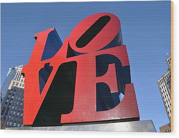 Love Wood Print by Bill Cannon
