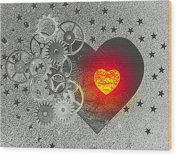 Love Makes It Work Wood Print by Christine Ricker Brandt