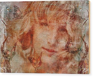 Loved By Butterflies Wood Print by Gun Legler