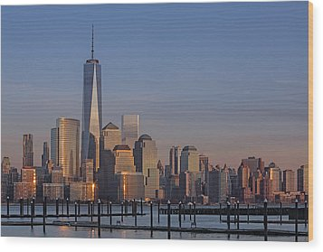 Lower Manhattan Skyline Wood Print by Susan Candelario
