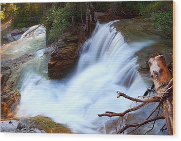 Wood Print featuring the photograph Lower Virginia Cascades by Aaron Whittemore