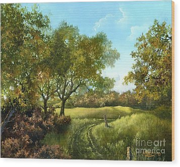 Luray Pasture Wood Print by Lynne Wright