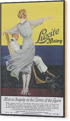 Luxite 1910s Usa Womens Hosiery Wood Print by The Advertising Archives