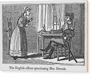 Lydia Darrah, 1777 Wood Print by Granger