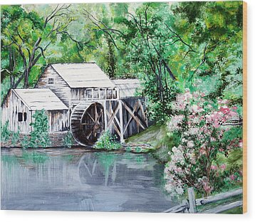 Mabry Mill Wood Print by Vickie Wright