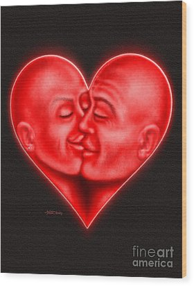 Mad Love Wood Print by Cristophers Dream Artistry