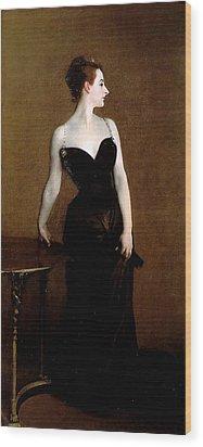 Madame X Wood Print by John Singer Sargent