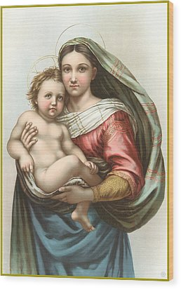 Madonna And Child Wood Print by Gary Grayson