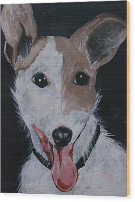 Wood Print featuring the painting Maggie by Leslie Manley