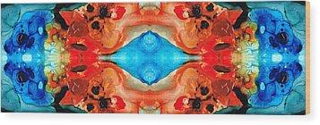 Magic Mirror - Abstract Art By Sharon Cummings Wood Print by Sharon Cummings