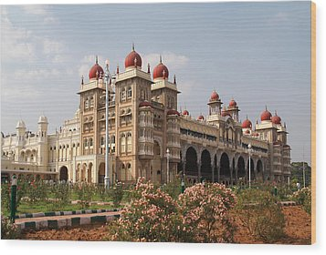 Maharaja's Palace And Garden India Mysore Wood Print