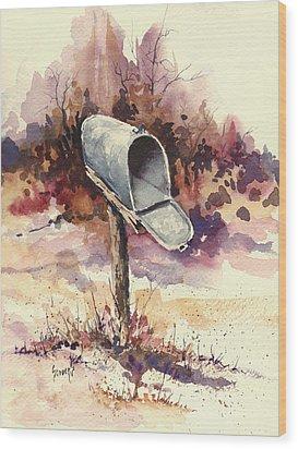 Mailbox Wood Print by Sam Sidders