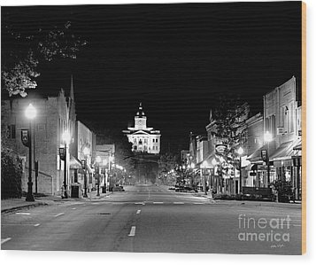 Main Steet Sylva 2003 Wood Print