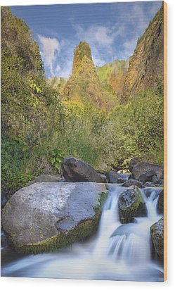 Wood Print featuring the photograph Majestic Iao Needle by Hawaii  Fine Art Photography