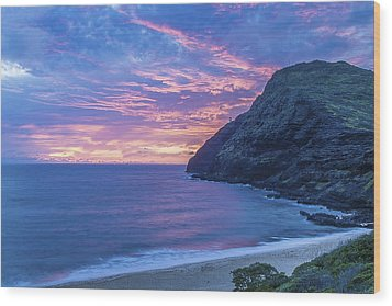 Makapuu Sunrise 2 Wood Print