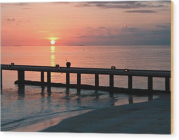 Wood Print featuring the photograph Maldives Morning  by Shirley Mitchell