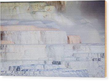 Mammoth Terraces Wood Print