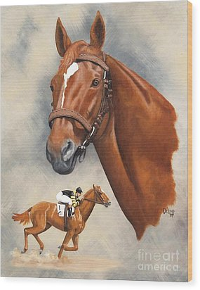 Man O'war Wood Print