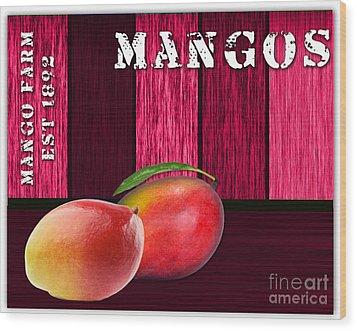 Mango Farm Sign Wood Print by Marvin Blaine