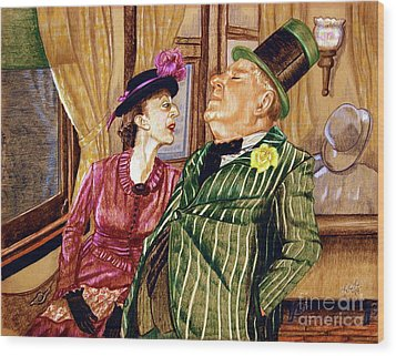 Margaret And W.c. Fields Wood Print