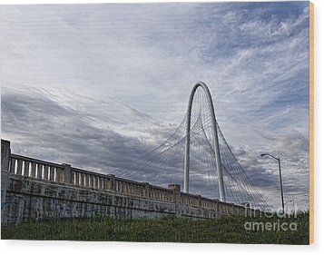 Margaret Hunt Hill Bridge Wood Print by Elena Nosyreva