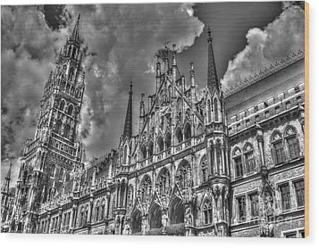 Marienplatz In Munich Wood Print