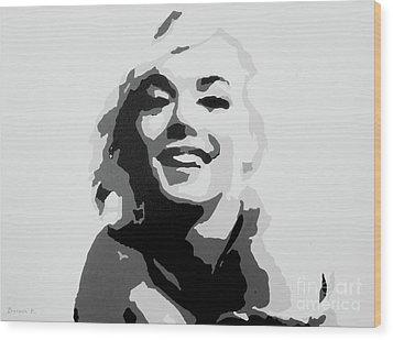 Marilyn Monroe Wood Print by Katharina Filus