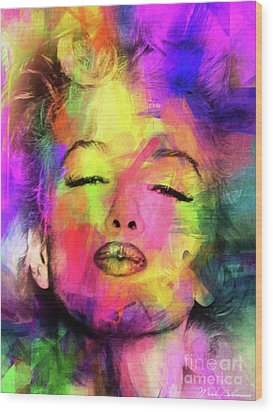 Marilyn Monroe Wood Print by Mark Ashkenazi