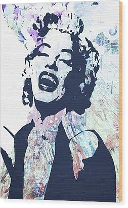 Marilyn Wood Print by Trisha Buchanan