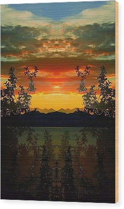 Wood Print featuring the photograph Marsh Lake - Yukon by Juergen Weiss