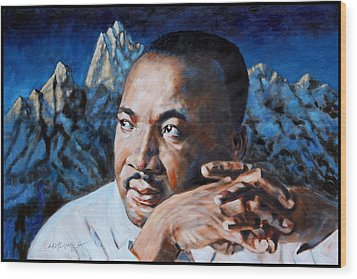 Martin Luther King Wood Print by John Lautermilch